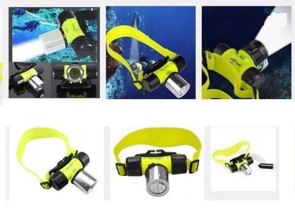 Đèn đội đầu lặn biển cao cấp