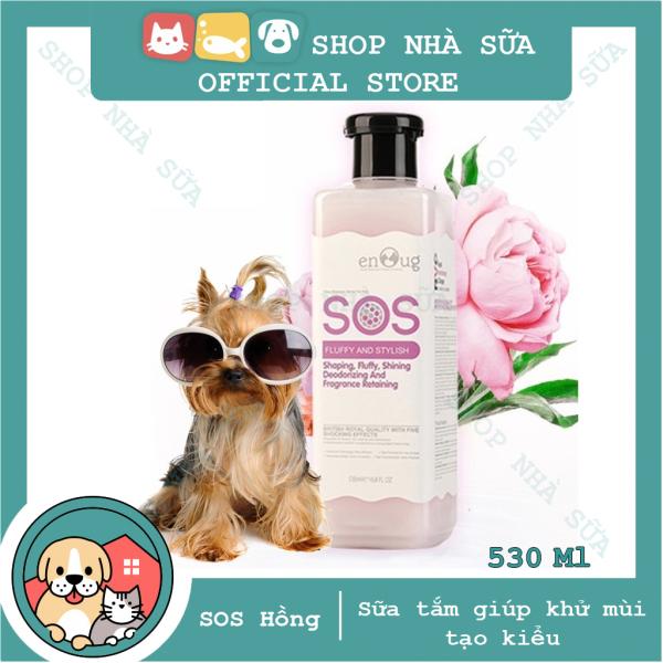 Sữa tắm SOS [Màu Hồng] 530ml - Dành cho Chó Lông Bông xù Poodle, Pomerian