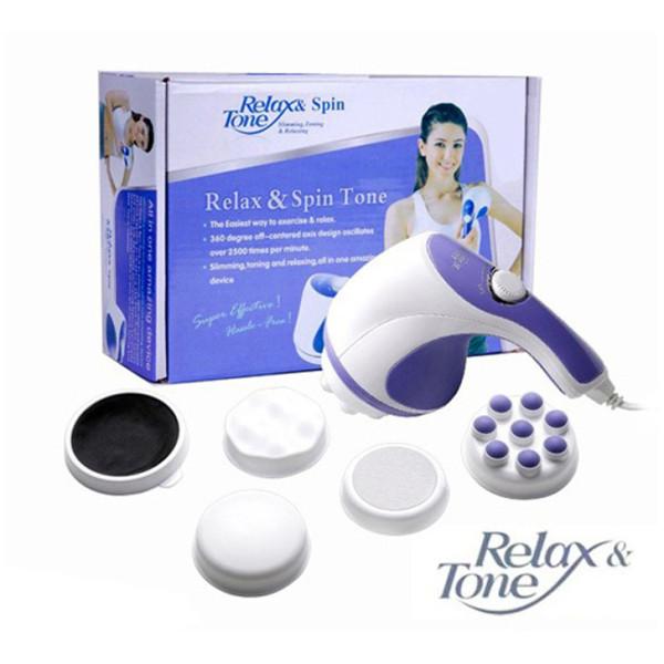 Đánh Tan Mỡ Bụng Máy Mát Xa Cầm Tay - Máy Massage Trị Liệu Đau Nhức Toàn Thân 5 Đầu Relax & Tone Đa Chức Năng Massage Toàn Thân Giá Rẻ