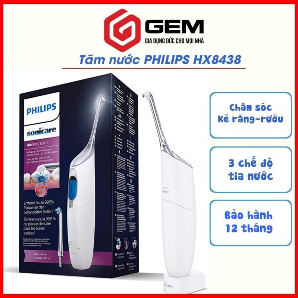 [CHÍNH HÃNG] Tăm nước Philips Sonicare AirFloss Ultra HX8438/01 MÀU TRẮNG