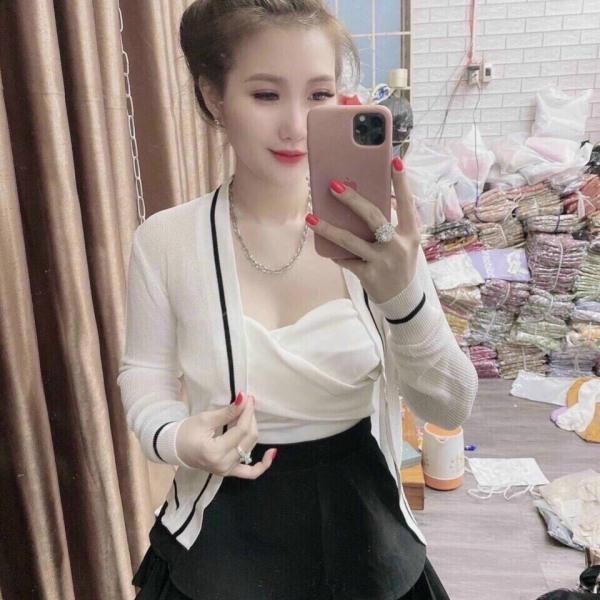 Áo Khoác Cardigan Len Mỏng Đi Biển, Dự tiệc Sang Chảnh- Hàng Quảng Châu Chuẩn