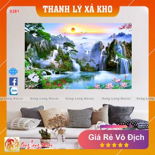 Tranh dán tường 3d Sơn Thủy Hữu Tình - Tranh 3D Phong Thủy- Giấy dán tường 3d - Song Long Decor - 0281 thumbnail
