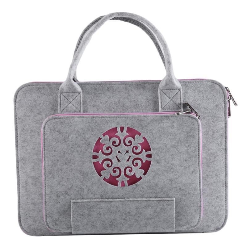 Giá Super Light Carved Wool Felt Laptop Bag For Macbook Lenovo Dell Hp Asus Computer Bag Notebook Case(13Inch)