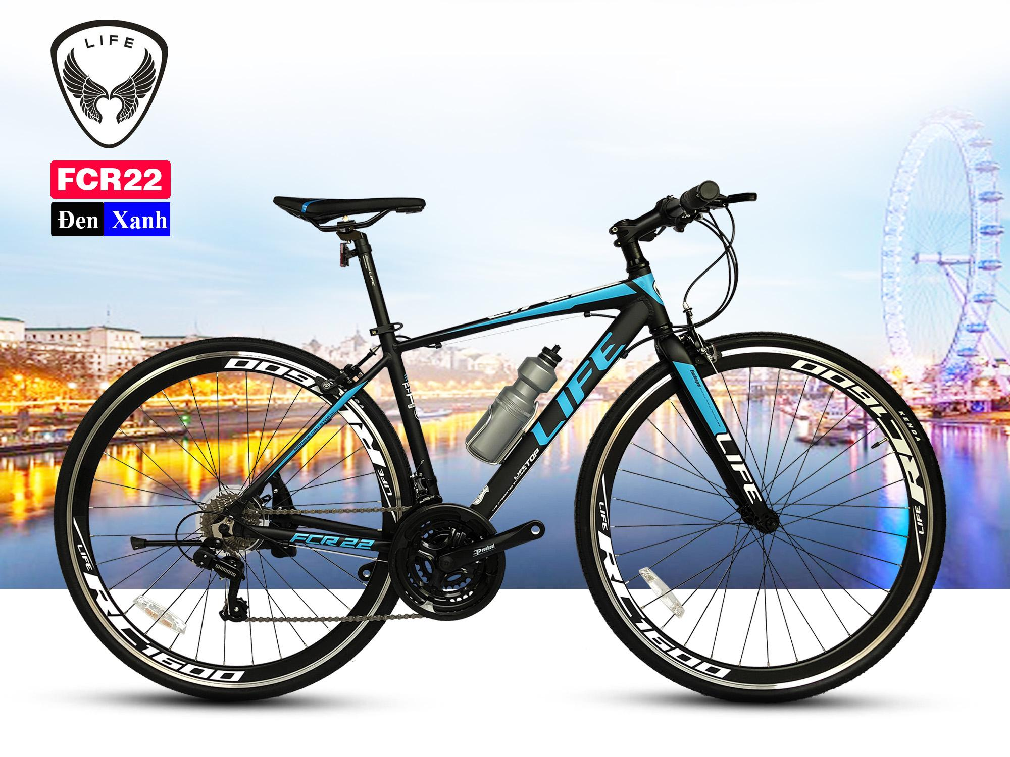 Mua Xe Đạp Touring Đài Loan LIFE FCR22 - khung nhôm siêu nhẹ, Shimano Tourney 21 tốc độ, càng đơ, lốp 700x28