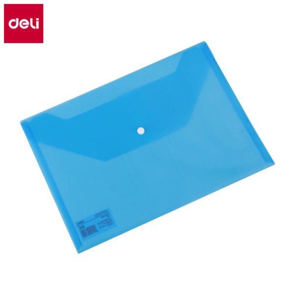 Mua Túi hồ sơ A4 DELI - Xanh/Trong suốt - combo 3 chiếc màu ngẫu nhiên - EF10432