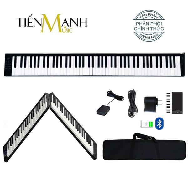 [Gấp Gọn] Đàn Piano Điện Konix PJ88B - 88 Phím Cảm Ứng Lực (Pin sạc, Bluetooth Audio và KeyBoard, Pedal Sustain PJ88, Bao đựng)