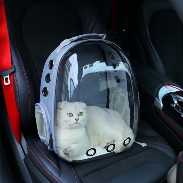 Balo phi hành gia trong suốt cho chó mèo- Balo kính trong suốt tặng kèm tấm lót- balo đựng chó mèo-Balo thiết kế nhiều lỗ thoáng khí cho thú cưng-Túi vận chuyển chó mèo