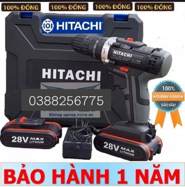 Máy khoan pin có BÚA hitachi 28v. (kèm 2pin) bảo hành 12 tháng