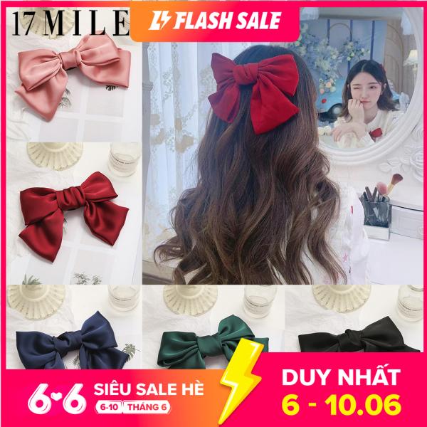 Kẹp tóc nơ to chất lụa siêu yêu 17Mile thời trang Hàn Quốc