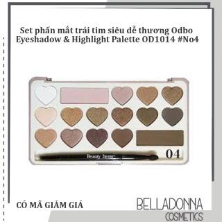 Set phấn mắt trái tim siêu dễ thương Odbo Eyeshadow & Highlight Palette OD1014 No4 thumbnail