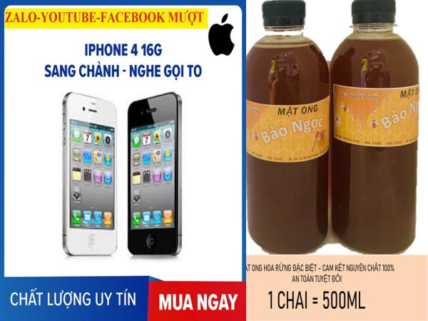1LITmật ong nguyên chất - tặng 1 điện thoại iphone4- lên mạng được