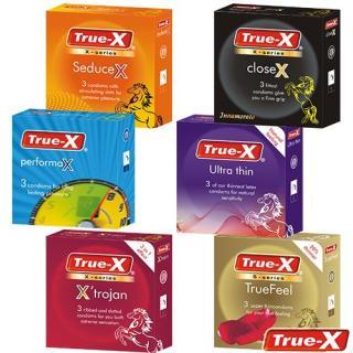 Bộ 6 hộp Bao cao su các loại gân gai, kéo dài thời gian True-X (18 chiêc) thumbnail