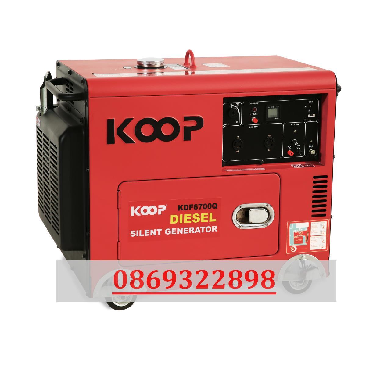 Máy phát điện nhật bản Siêu chống ồn Koop 7.5kw KDF 8500QQ