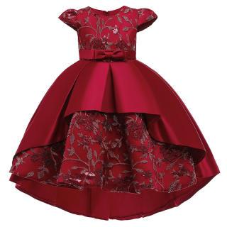 MQATZ ĐầM Dạ HộI Trang Trọng Váy Trẻ Em Bé Gái Cho Bé Gái Quần Áo Trẻ Em Váy Dạ Hội Hoa Váy Cưới Công Chúa 2-8 Năm T5170