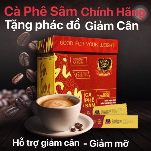 Cà phê Sâm Ginseng Giúp giảm cân (1 Hộp 30 gói)