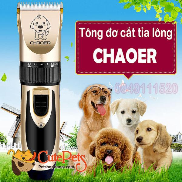 [Cháy Hàng Hot]Tông đơ cắt tỉa lông Chaoer Professional cho Chó Mèo [Hàng Chính Hãng ]