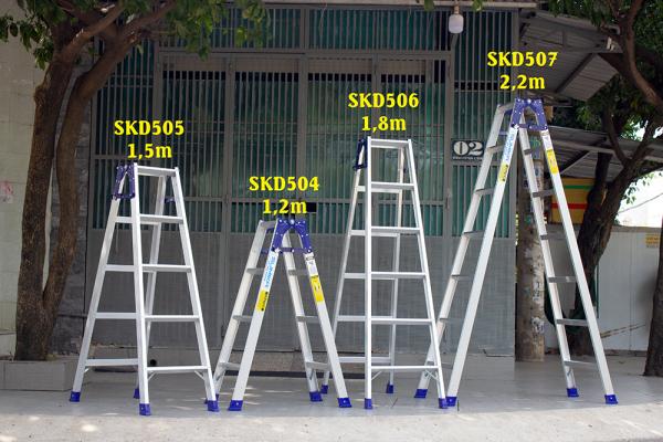 Thang nhôm xếp chữ A Sumika SKD504 (1.2M+1.2M)