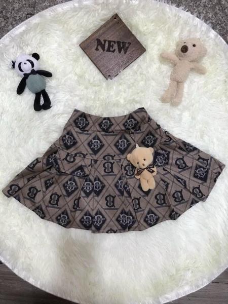 Giá bán Váy ngắn xòe họa tiết có kèm gấu siêu xinh (35-50kg)