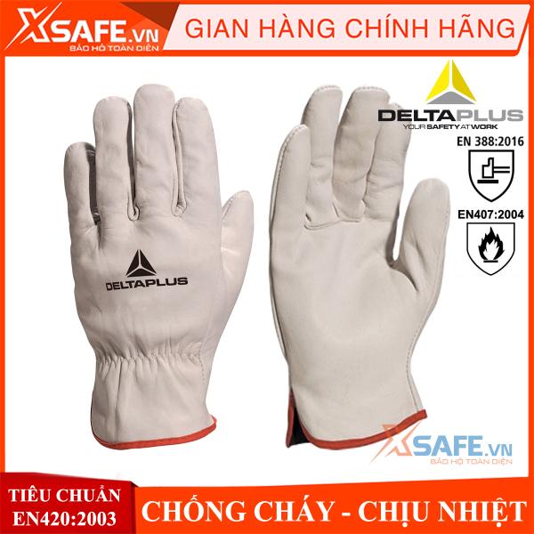 [HCM]Găng tay da hàn Deltaplus FBN49- bao tay hàn chịu nhiệt - chống cháy - da bò cung cấp độ linh hoạt cao cơ khí sửa chữa nông nghiệp... (trắng ngắn tay) - Sản phẩm chính hãng XSAFE
