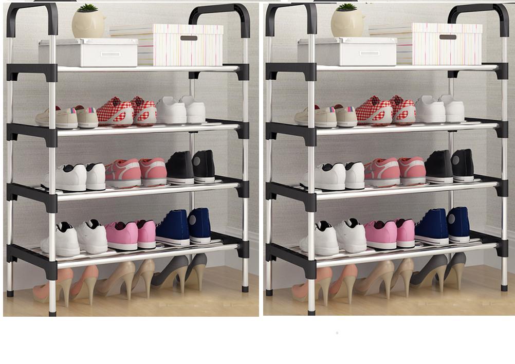 Kệ giày dép 5 tầng khung inox,giá để giày inox 5 tầng,giầy dép,kệ để đồ,kệ sách