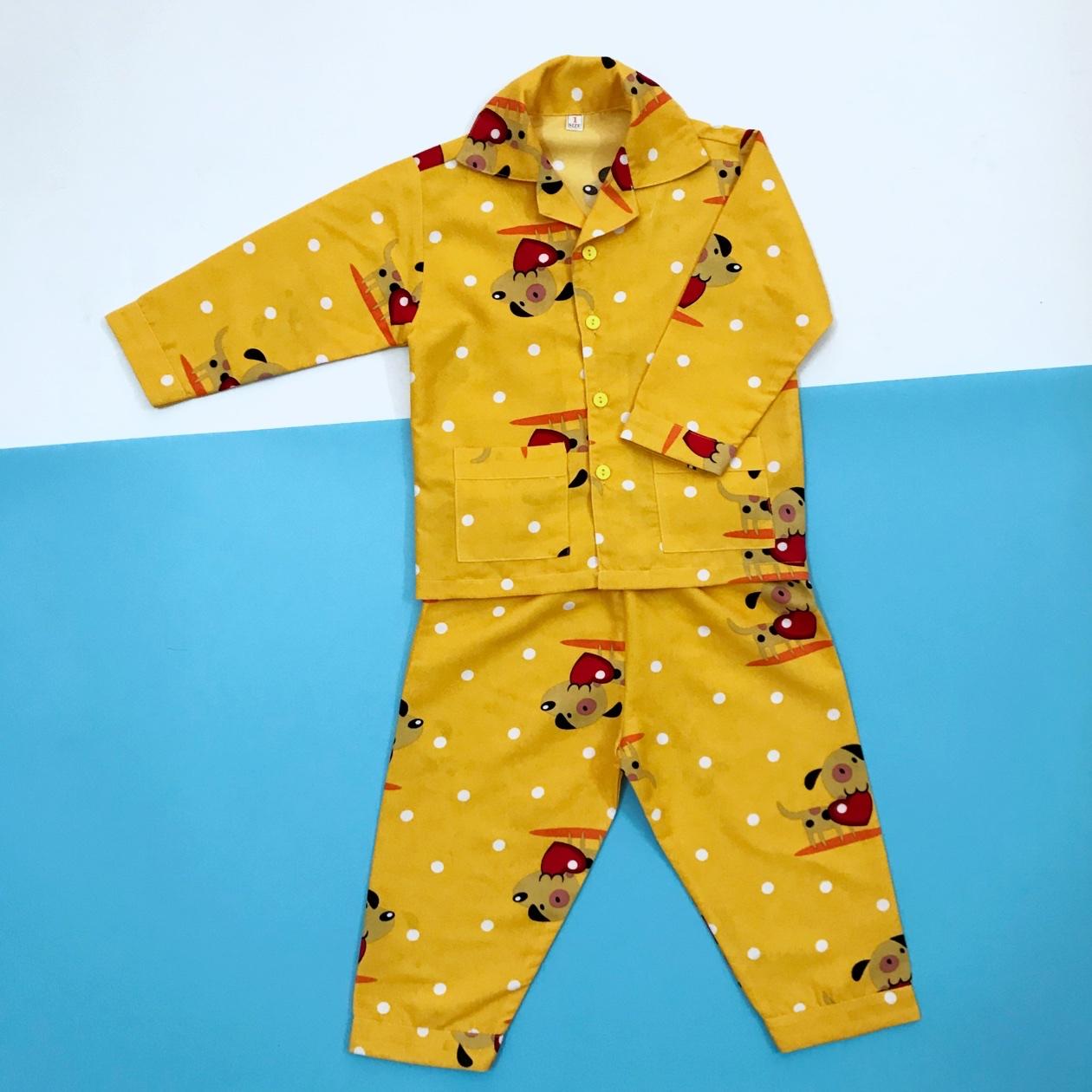 Pijama Dài Cho Bé Kate Thái Hình Cún Vàng 10-40kg Giá Tốt Duy Nhất tại Lazada