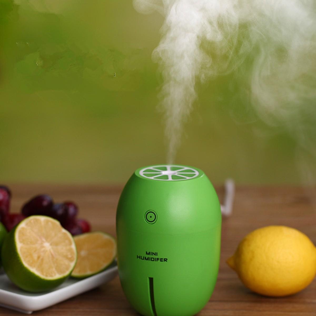 Máy phun sương mini tinh dầu quả chanh kiêm đèn ngủ Lemon Humidifier