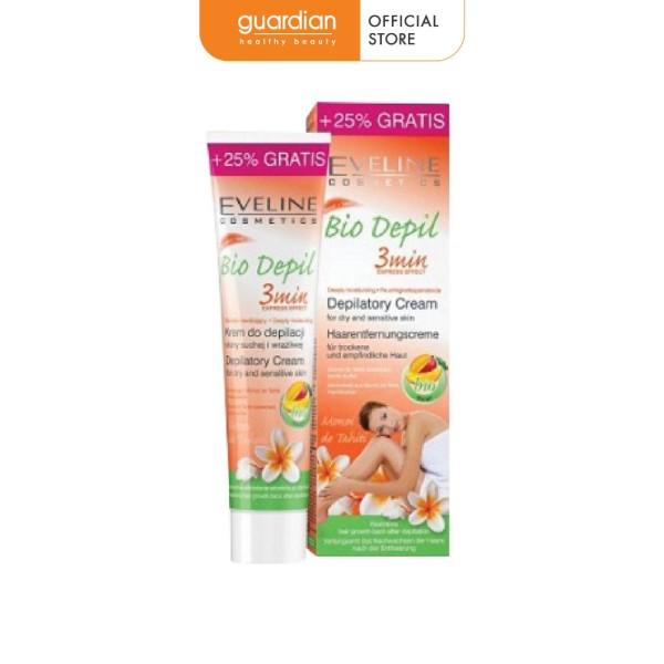 Kem tẩy lông hữu cơ 3 vùng Eveline Bio Depil 125ml cao cấp