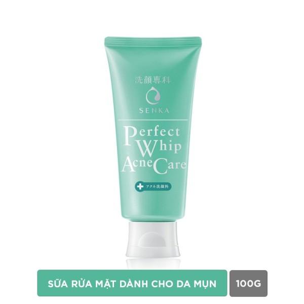 Sữa rửa mặt giảm mụn Senka Perfect Whip Acne Care 100g cao cấp