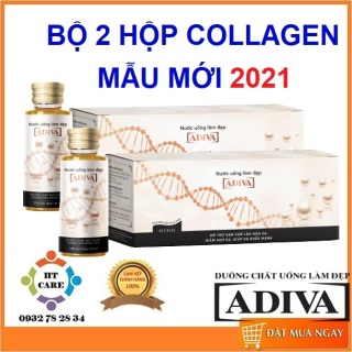 COMBO 2 HỘP COLLAGEN ADIVA - HỘP 14 chai 30ml thumbnail
