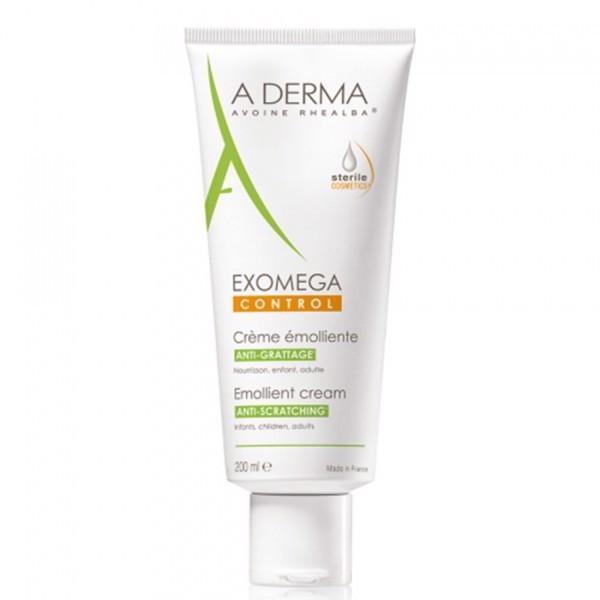 A-Derma Exomega Control 200ml - Kem làm mềm da, giảm bong da cho viêm da cơ địa