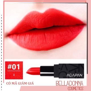 Son lì dạng thỏi Agapan Pit A Pat Matte Lipstick 01 I - Tone đỏ tươi thumbnail