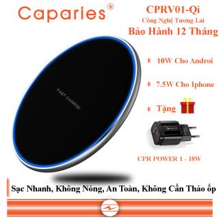 Đế Sạc Nhanh Không Dây 15W CAPARIES CPRV01-Qi - Chính Hãng thumbnail