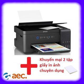 Máy in Epson L4150 màu đa chức năng (In, photo, Scan, Wifi) máy đã bao gồm 4 bình mực Hàn Quốc + khuyến mại 2 tập giấy in ảnh thumbnail