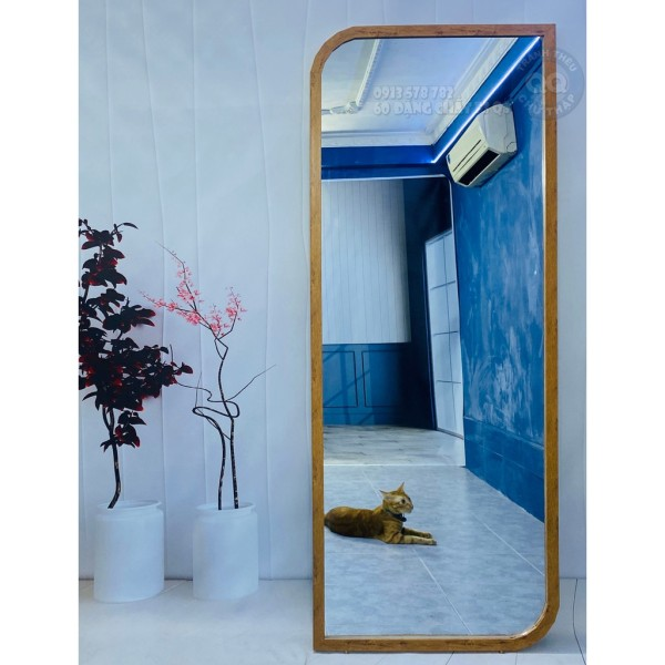 Gương soi toàn thân treo tường khung gỗ thật 100% cổ điển vintage CL giá rẻ