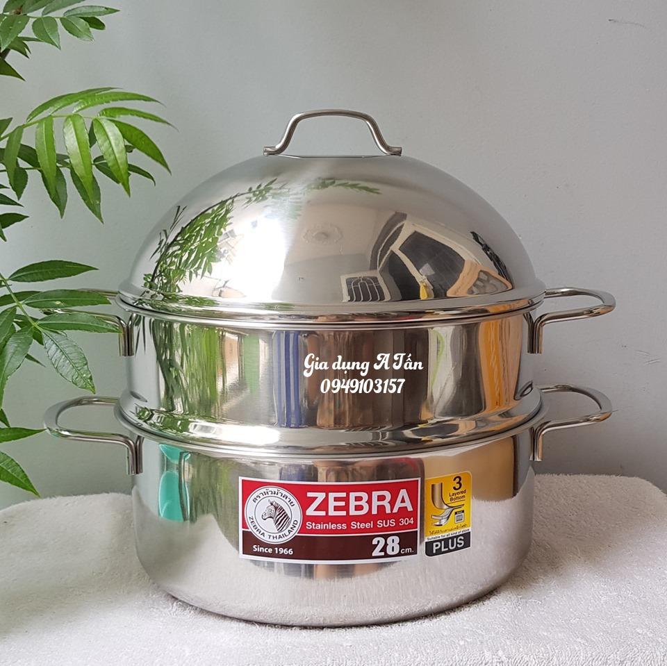 Bộ nồi xửng hấp Zebra Thái Lan 28cm-Extreme plus II lỗ nhỏ, inox 304-164390