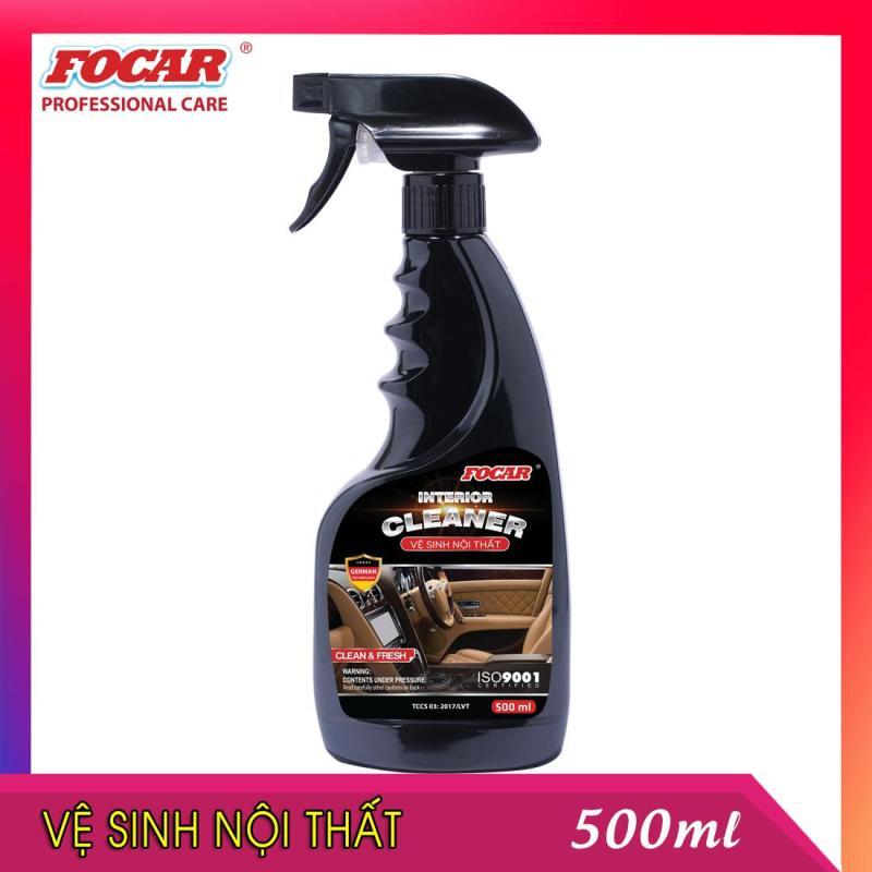 [KHO HCM] Dung dịch vệ sinh nội thất ô tô chuyên dụng Focar Interior cleaner 0,5L - Vệ sinh ghế da, vệ sinh xe hơi, tẩy rửa nội thất ô tô, vệ sinh ghế nỉ, vệ sinh trong xe, vệ sinh thảm, khử mùi ô tô