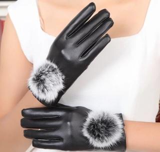 Bao tay da nữ đi xe máy mùa đông thiết kế siêu dễ thương cảm ứng tốt CBG thumbnail
