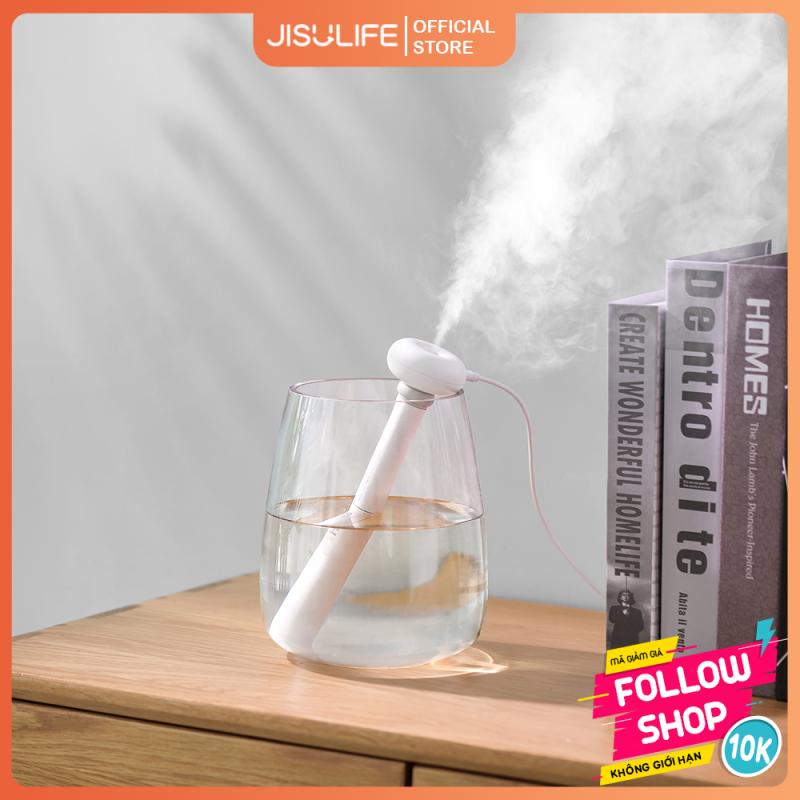 Máy phun sương mini tạo ẩm lọc không khí, giữ ẩm cho da Doughnut Jisulife JT06 - Máy toả hương tinh dầu giảm stress dùng mọi nơi, lực phun mạnh không gây ồn, cổng sạc USB tiện lợi (Bảo hành 12 tháng)