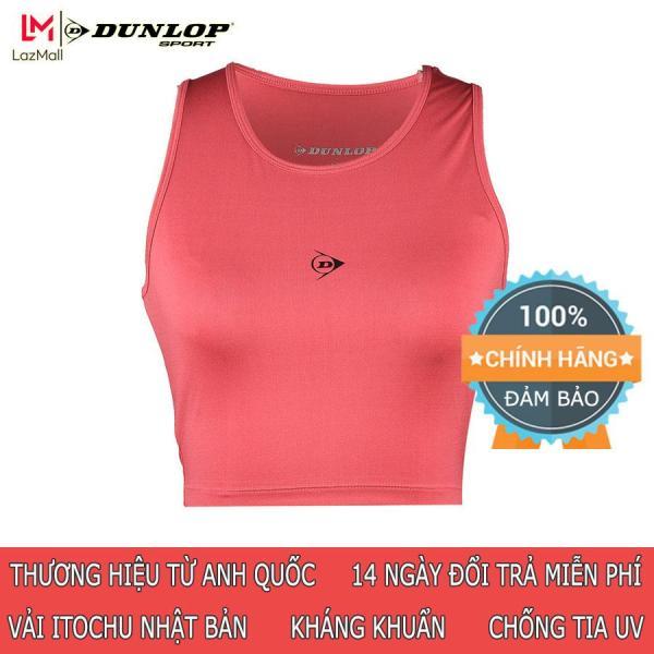Áo Croptop thể thao Nữ Dunlop - DAGYS9147-2 áo tập GYM nữ đẹp co giãn thoát mồ hôi tốt phong cách sành điệu gợi cảm