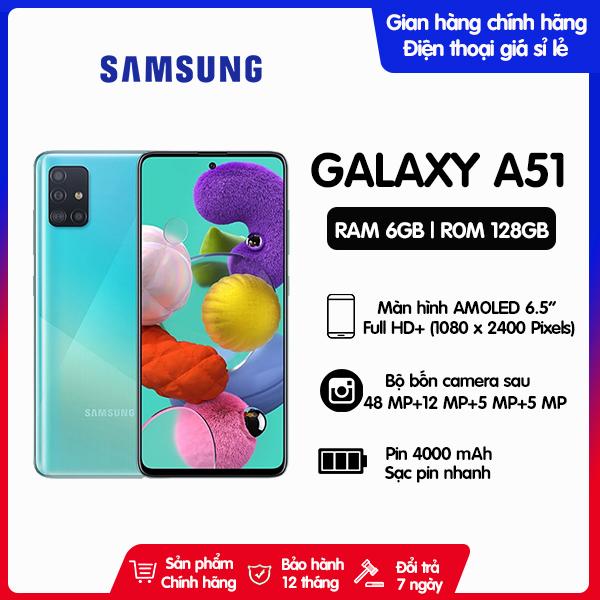 Điện Thoại Samsung Galaxy A51 ROM 128GB RAM 6GB - Hàng chính hãng, mới 100%, Nguyên seal, Bảo hành 12 tháng