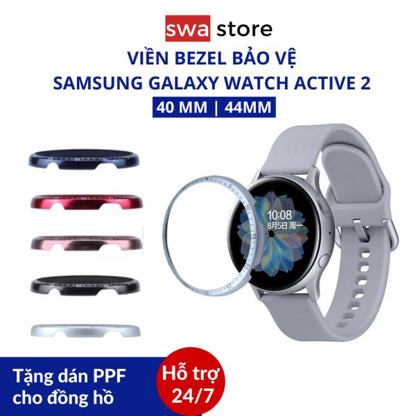 [Tặng dán PPF] Vòng Bezel cao cấp bảo vệ viền đồng hồ thông minh Samsung Galaxy Watch Active 2 (40mm và 44mm)