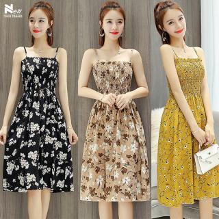 [HCM]Đầm 2 Dây Xếp Ly - New Thoi Trang thumbnail
