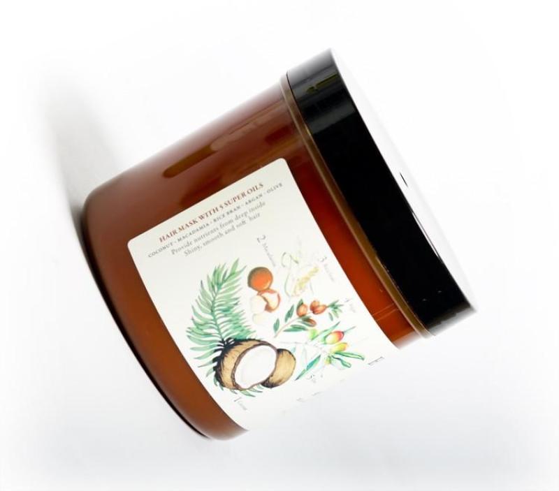 Kem ủ tóc Herbario phục hồi tóc xơ, hư tổn 500ml [TẶNG SON DƯỠNG] cao cấp