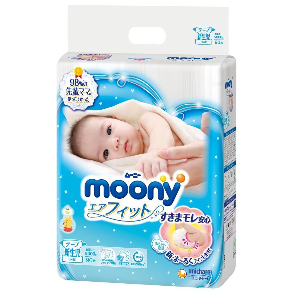 Deal Giảm Giá Bỉm Moony Blue Dán S84/M64/L54/XL44