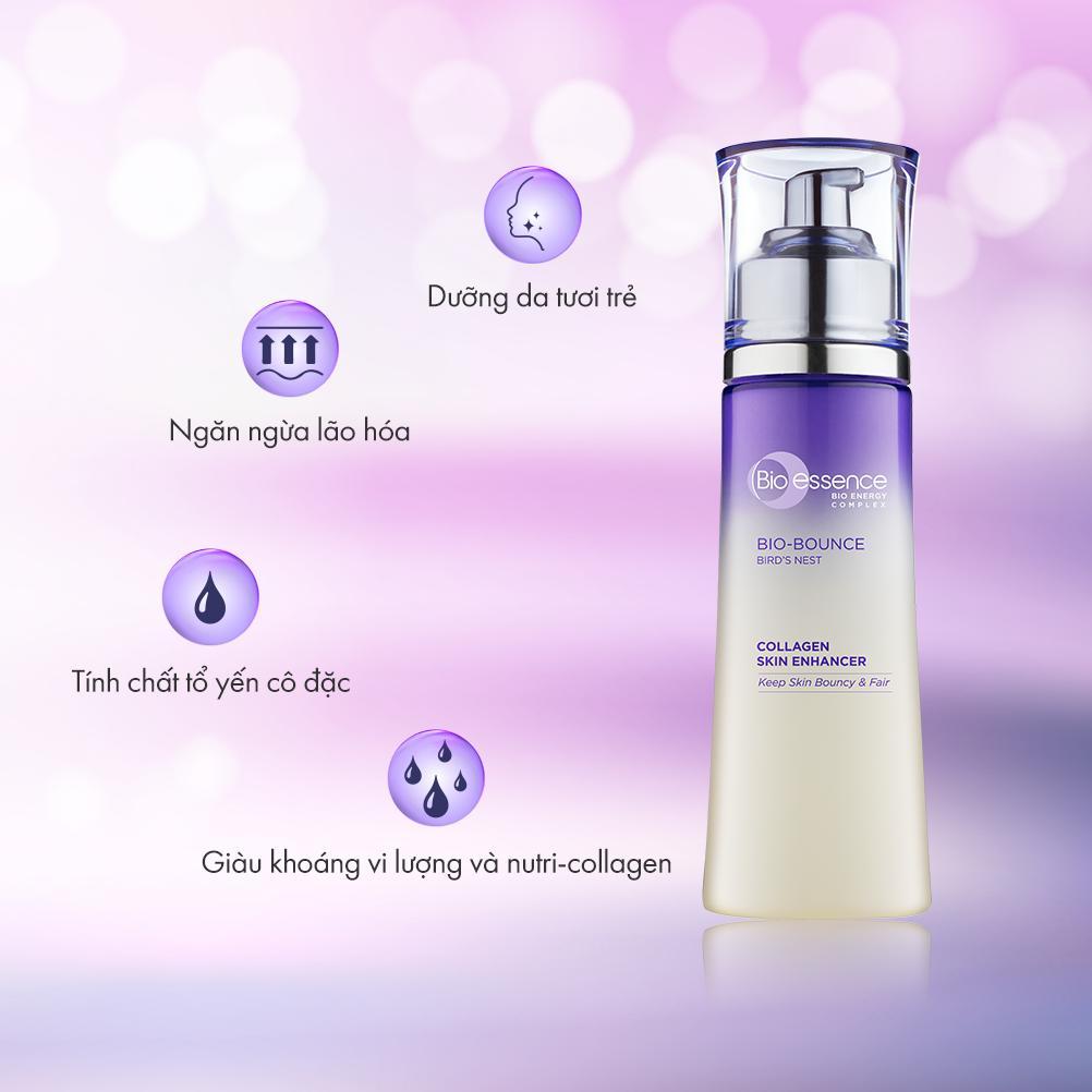 Kết quả hình ảnh cho Nước Cân Bằng Dưỡng Da & Căng Mọng Bio-Essence Bio-Bounce Skin Enhancer