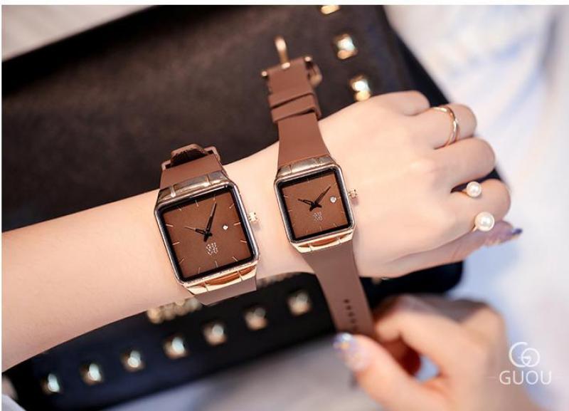 Đồng hồ nữ Guou 8161 dây cao su cao cấp thiết kế siêu sang trọng bán chạy