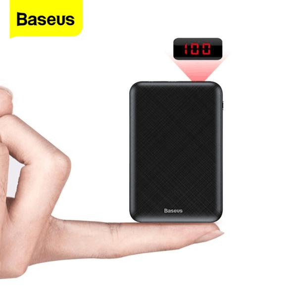 Baseus 10000mAh Ngân hàng điện di động nhỏ USB Loại C Bộ sạc nhanh Pin sạc dự phòng 10000 mAh nhỏ cho iPhone 12 Pro Max Xiaomi Samsung Huawei Pin ngoài