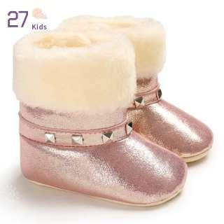 27 Trẻ Em 0-1-Năm-Tuổi Trai Cô Gái Mềm Đế Giày Bông Ấm Giày Tuyết Cho Mùa Đông