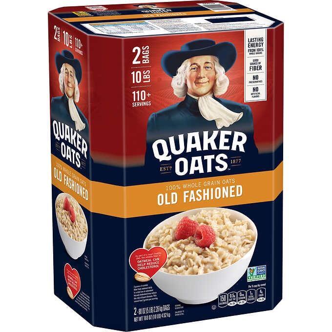 Yến Mạch Nguyên Hạt Mỹ Quaker Oats Old Fashioned 4.52 Kg Giá Tốt Không Nên Bỏ Lỡ