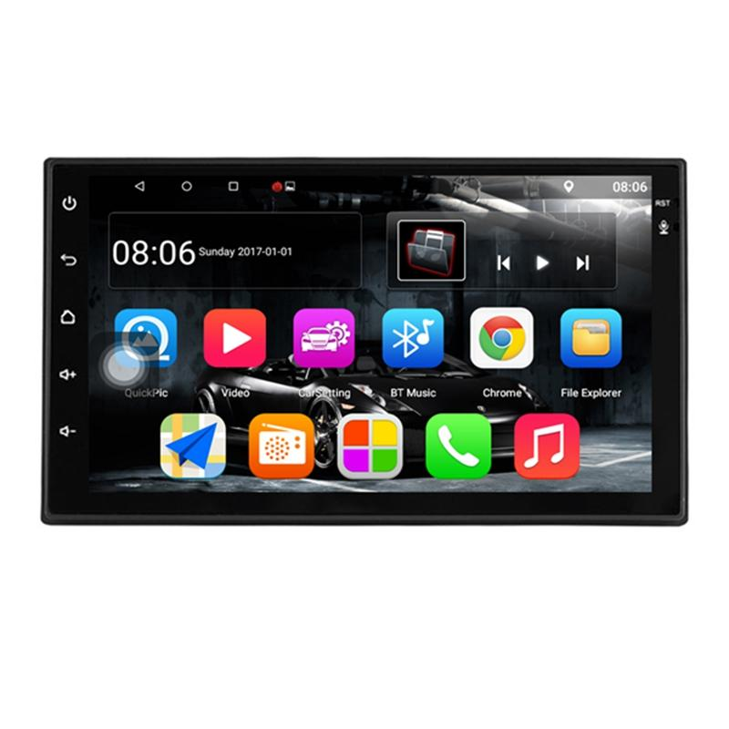 Android 7.1 Car Stereo 7 Inch 1024x600 1080p Quad Core 2din Android Head Unit Gps Navigation Audio Radio 1g+16g.